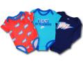 BY245 ベビー ナイキ ロンパース 3枚セット Nike Rompers Baby ベビー服 赤ちゃん ネオンオレンジターコイズ紺 【メール便対応】