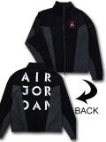 HJ078 メンズ ジョーダン ナイロンジャケット Air Jordan AJ5 Jacket 黒白アントラシート【ルーズフィット】