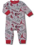 BT112 ベビー ジョーダン カバーオール Jordan Coverall ベビー服 赤ちゃん 灰赤 【メール便対応】