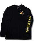JT118 メンズ ジョーダン ロングスリーブTシャツ Jordan Jumpman Classics Long Sleeve 長袖 黒黄色 【メール便対応】