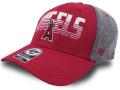 FB488 MLB ロサンゼルス・エンゼルス ストレッチキャップ '47 Los Angeles Angels Cap メジャーリーグ ベースボール  帽子 赤ダークグレー