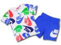 BP042 キッズ 子供用 ナイキ Tシャツ&ハーフパンツ セットアップ Nike Toddler Set 白オリオンブルー 【メール便対応】