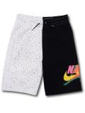 PK118 キッズ Jordan Jumpman Classics Fleece Shorts ジョーダン スウェットハーフパンツ 黒白黄色