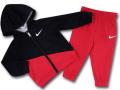 BY253 ベビー ナイキ パーカー&パンツ セットアップ Nike Infant Set ベビー服 赤ちゃん 黒赤ライトグレー【ドライフィット】