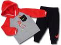 BY254 ベビー ナイキ もこもこパーカー&パンツ セットアップ Nike Infant Set ベビー服 赤ちゃん 灰黒ブライトオレンジ