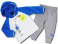 BY255 ベビー ナイキ もこもこパーカー&パンツ セットアップ Nike Infant Set ベビー服 赤ちゃん 白灰青