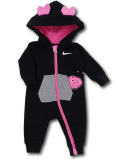 BY256 ベビー ナイキ フード付き カバーオール Nike Infant Coverall ベビー服 赤ちゃん 黒ピンク