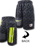 KL706 メンズ ナイキ ハーフパンツ Nike Sportswear Club Fleece Shorts ダークグレーネオングリーン