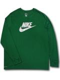 KL704 メンズ ナイキ ロングスリーブTシャツ Nike Dri-FIT Long Sleeve 長袖 緑灰【ドライフィット】 【メール便対応】