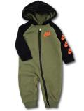 WA743 【SALE・わけあり】 ベビー ナイキ フード付き カバーオール Nike Infant Coverall ベビー服 赤ちゃん ミリタリーグリーン黒 【メール便対応】 サイズ6M