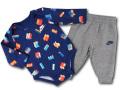 BY259 ベビー ナイキ ロンパース&パンツ セットアップ Nike Rompers Set ベビー服 赤ちゃん 紺灰 【メール便対応】