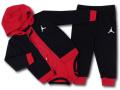 BT115 ベビー ジョーダン パーカー&パンツ セットアップ 3点セット Jordan Infant Set 子供服 キッズ 黒赤白