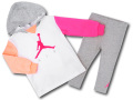 BT117 ベビー/ガールズ ジョーダン パーカー&レギンスパンツ セットアップ Jordan Infant Set 子供服 キッズ 白灰ピンク