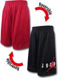 SK476 ジュニア ジョーダン リバーシブル メッシュショーツ Jordan Youth Reversible Shorts キッズ バスパン 赤黒白 【メール便対応】