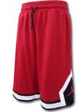 SK475 ジュニア ジョーダン バスケットボールショーツ Jordan Youth Diamond Shorts キッズ ユース バスパン 赤黒白【ドライフィット】 【メール便対応】