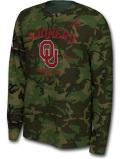JN445 メンズ ジョーダン NCAA オクラホマ大学 スーナーズ ロングスリーブ トレーニングシャツ Jordan Oklahoma Sooners 長袖 カモフラージュ 【ドライフィット】 【メール便対応】