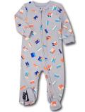 BY261 ベビー ナイキ カバーオール Nike Infant Coverall ベビー服 赤ちゃん 灰ネオンオレンジ 【メール便対応】