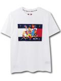 "NK449 ジュニア トミーヒルフィガー x スペースジャム Tシャツ Tommy Hilfiger x Looney Tunes ""Space Jam"" A New Legacy T-Shirt キッズ ユース トップス 白 【メール便対応】"