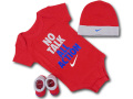 BH886 べビー ナイキ ロンパース3点セット Nike Infant Set 帽子 靴下 ギフトセット 赤灰青【箱付き】