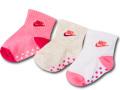 BA658 ベビー ナイキ ソックス 3足セット Nike Grippy Socks ベビー服 赤ちゃん 靴下 ピンクアイボリー白 【メール便対応】