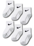 BA660 ベビー ナイキ ソックス 6足セット Nike Socks ベビー服 赤ちゃん 靴下 白灰黒 【メール便対応】