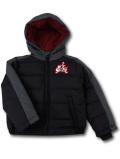 BT120 ベビー ジョーダン フード付き 中綿ジャケット Jordan Jumpman Classics Zip-Up Hoodie Jacket 子供服 キッズ 黒ダークグレー赤