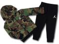 BT121 ベビー ジョーダン パーカー&パンツ セットアップ Jordan Infant Set 子供服 キッズ カモフラージュ黒白