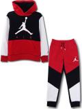 OK940 ジュニア ジョーダン パーカー セットアップ Jordan Pullover Hoodie Pants キッズ ユース 上下セット 赤黒白