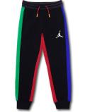 PK144 ジュニア ジョーダン スウェットパンツ Jordan Fleece Pants キッズ 長ズボン 黒マルチカラー