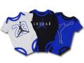 BT122 ベビー ジョーダン ロンパース 3枚セット Jordan Rompers 赤ちゃん ベビー服 灰黒青 【メール便対応】