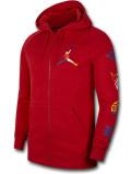 HJ946 メンズ Jordan DNA Jumpman Rivals Zip-Up Hoodie ジョーダン ジップアップ パーカー 秋冬物 ジャケット フーディー  裏起毛 赤マルチカラー