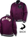 HJ095 メンズ ジョーダン パリ・サンジェルマン 中綿ジャケット Jordan x PSG Paris Saint-Germain Varsity Jacket ボンバージャケット ボルドー黒白