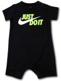 BY264 ベビー ナイキ ロンパース Nike JDI Infant Rompers ベビー服 赤ちゃん 黒白ネオングリーン 【メール便対応】