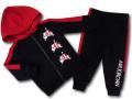 BT124 ベビー ジョーダン パーカー&パンツ セットアップ Jordan Jumpman Classics Infant Set 子供服 キッズ 黒赤白