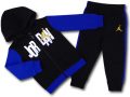 BT123 ベビー ジョーダン パーカー&パンツ セットアップ Jordan Infant Set 子供服 キッズ 黒青白