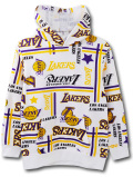 OK947 ジュニア NBA ロサンゼルス・レイカーズ パーカー UNK Los Angeles Lakers Pullover Hoodie キッズ アンク 白黄色紫