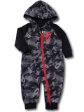 BY266 ベビー ナイキ フード付き カバーオール Nike Infant Coverall Camo 赤ちゃん ベビー服 黒灰赤 【メール便対応】