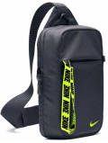 NP833 ナイキ ヒップパック Nike Essentials Hip Pack Bag ボディバッグ  ダークグレーネオングリーン