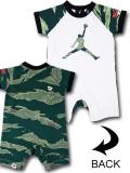 BT071 ベビー ジョーダン ロンパース Jordan Rompers ベビー服 赤ちゃん 白緑黒 【メール便対応】