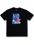 KL716 メンズ ナイキ Tシャツ Nike Sportswear T-Shirt 黒アイスブルー【ルーズフィット】 【メール便対応】