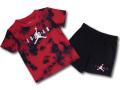 BT125 ベビー ジョーダン Tシャツ&ハーフパンツ セットアップ Jordan Infant Set ベビー服 子供用 赤黒白 【メール便対応】