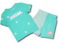 BP047 キッズ 子供用 ジョーダン Tシャツ&ハーフパンツ セットアップ Jordan Toddler Set エメラルドグリーン白 【メール便対応】