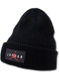 AJ116 ジョーダン ニットキャップ Jordan Beanie ビーニー 帽子 黒赤 【メール便対応】