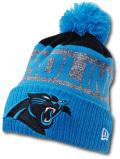 FB496 ニューエラ NFL カロライナ・パンサーズ ポンポン ニットキャップ New Era Carolina Panthers Pon Beanie ビーニー ニット帽 アメフト  ターコイズブルー黒【メール便対応】