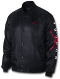 HJ088 メンズ ジョーダン スタジアムジャケット Jordan Jumpman Stadium Jacket スタジャン サテンジャケット 黒赤白