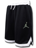 SK481 ジュニア ジョーダン バスケットボールショーツ Jordan Youth Shorts キッズ ユース バスパン 黒白メタリックグリーン 【メール便対応】