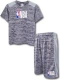 NK357 ジュニア キッズ NBA Logo ロゴマン トレーニングシャツ&ショーツ セットアップ 灰白