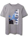 LL404 【メール便対応】 キッズ Jordan '92 Retro ジョーダン Tシャツ 灰水色紺