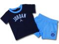 BT553 【メール便対応】 ベビー Jordan ジョーダン Tシャツ&パンツ セットアップ 紺水色