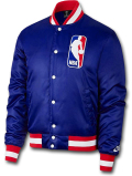 NJ337 メンズ Nike SB x NBA Bomber Jacket ナイキ ボンバージャケット 中綿ジャケット 青赤白